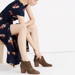 Madewell suede brenner ankle boots 6